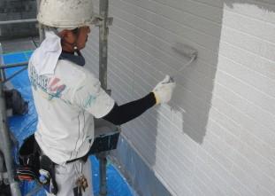 水性クールテクトSi塗装作業