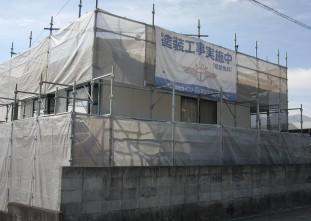速見郡日出町_U様邸_外壁塗装_足場組み立て工事9824