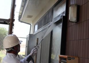 宇佐市樋田 外壁高圧洗浄