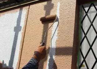 外壁主剤(水性クールタイトSi)中塗り