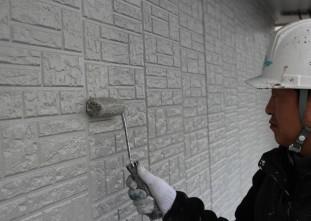 外壁:水性クールテクトSi 上塗り