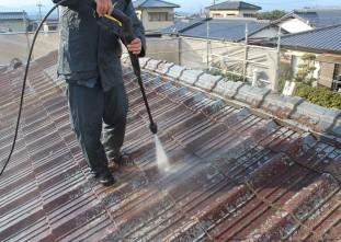 屋根トルネード高圧洗浄