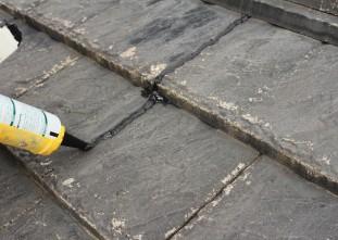 屋根クラック処理