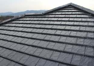 屋根ハイルーフマイルドシリコン下塗り完了