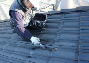 屋根ハイルーフマイルドシリコン遮熱型上塗り
